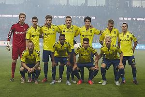 Frederik R�nnow (Br�ndby IF), Elba Rashani (Br�ndby IF), Martin �rnskov, anf�rer (Br�ndby IF), Martin Albrechtsen (Br�ndby IF), Christian N�rgaard (Br�ndby IF), Ronnie Schwartz (Br�ndby IF), Riza Durmisi (Br�ndby IF), Magnus Eriksson (Br�ndby IF), Lebogang Phiri (Br�ndby IF), Andrew Hjulsager (Br�ndby IF), Johan Larsson (Br�ndby IF)