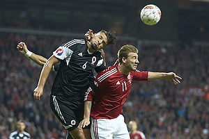 Djimsiti Berat (Albanien), Nicklas Bendtner (Danmark)