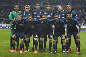 Keylor Navas (Real Madrid CF), Raphaël Varane (Real Madrid CF), Nacho (Real Madrid CF), Cristiano Ronaldo (Real Madrid CF), Toni Kroos (Real Madrid CF), Karim Benzema (Real Madrid CF), Casemiro (Real Madrid CF), Daniel Carvajal (Real Madrid CF), Mateo Kovacic (Real Madrid CF), Álvaro Arbeloa (Real Madrid CF), Isco (Real Madrid CF)