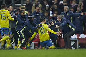 Zlatan Ibrahimovic, m�lscorer (Sverige), Erik Hamren, cheftr�ner (Sverige)