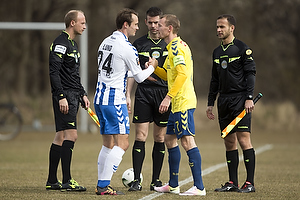 Oliver Lund, anf�rer (Ob), Thomas Kahlenberg, anf�rer (Br�ndby IF)
