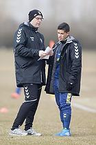 Claus N�rgaard, assistenttr�ner (Br�ndby IF), Patrick Da Silva (Br�ndby IF)