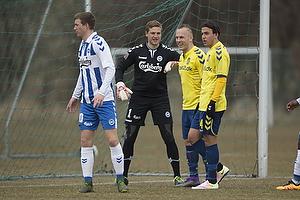 Michael Falkesgaard (Ob), Magnus Eriksson (Br�ndby IF), Daniel St�ckler (Br�ndby IF)