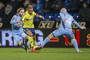 Kasper Fisker (Randers FC), Hany Mukhtar (Br�ndby IF), Johnny Thomsen (Randers FC)