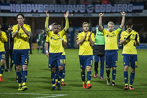 Benedikt R�cker (Br�ndby IF), Lebogang Phiri (Br�ndby IF), Teemu Pukki (Br�ndby IF), Johan Larsson, anf�rer (Br�ndby IF), Christian N�rgaard (Br�ndby IF)