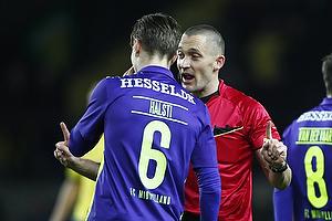 Markus Halsti (FC Midtjylland), Mads-Kristoffer Kristoffersen, dommer (FC Midtjylland)
