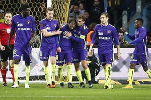 Paul Onuachu (FC Midtjylland), Jonas Borring (FC Midtjylland), Rafael van der Vaart, m�lscorer (FC Midtjylland), Jakob Poulsen, anf�rer (FC Midtjylland)