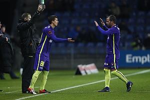 Rafael van der Vaart (FC Midtjylland), Gustav Wikheim (FC Midtjylland)