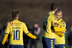 Hany Mukhtar (Br�ndby IF), Gustaf Nilsson (Br�ndby IF), Teemu Pukki (Br�ndby IF)