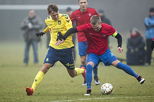 Christian Jakobsen (Br�ndby IF), Thomas Wiil-Andersen, anf�rer (Hvidovre IF)