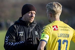 Alexander Zorniger, cheftr�ner (Br�ndby IF), Johan Larsson (Br�ndby IF)