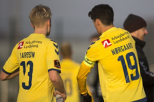 Johan Larsson (Br�ndby IF), Christian N�rgaard, anf�rer (Br�ndby IF)