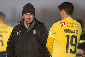 Alexander Zorniger, cheftr�ner (Br�ndby IF), Christian N�rgaard, anf�rer (Br�ndby IF)