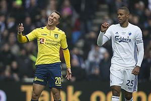 Kamil Wilczek (Br�ndby IF), Mathias Zanka J�rgensen (FC K�benhavn)