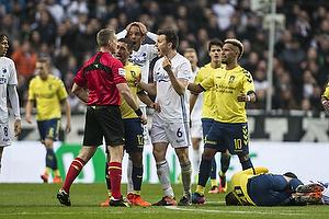 Jakob Kehlet, dommer , Frederik Holst (Br�ndby IF), William Kvist (FC K�benhavn)