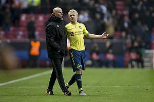 St�le Solbakken, cheftr�ner (FC K�benhavn), Johan Larsson, anf�rer (Br�ndby IF)