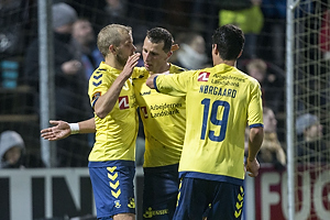 Teemu Pukki, m�lscorer (Br�ndby IF), Kamil Wilczek (Br�ndby IF), Christian N�rgaard (Br�ndby IF)