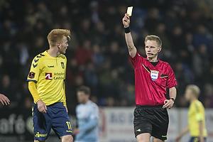 Zsolt Kalm�r (Br�ndby IF), J�rgen Daugbjerg Burchardt, dommer