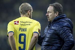 Teemu Pukki (Br�ndby IF), Alexander Zorniger, cheftr�ner (Br�ndby IF)