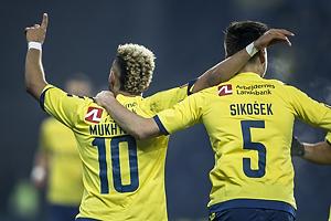 Hany Mukhtar, m�lscorer (Br�ndby IF), Gregor Siko�ek (Br�ndby IF)