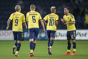 Teemu Pukki (Br�ndby IF), Hj�rtur Hermannsson (Br�ndby IF), Hany Mukhtar (Br�ndby IF), Frederik Holst (Br�ndby IF)
