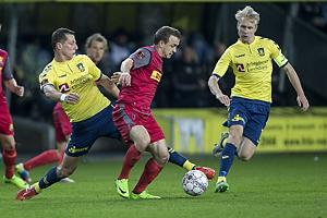 Kamil Wilczek (Br�ndby IF), Stanislav Lobotka (FC Nordsj�lland), Johan Larsson, anf�rer (Br�ndby IF)