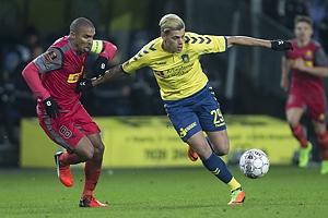 Patrick Mtiliga (FC Nordsj�lland), Jan Kliment (Br�ndby IF)