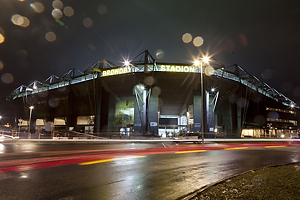 Br�ndby Stadion by night