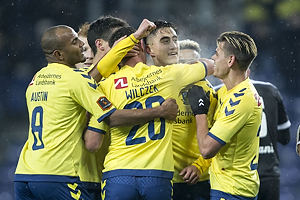 Svenn Crone, m�lscorer (Br�ndby IF), Kamil Wilczek (Br�ndby IF), Christian N�rgaard (Br�ndby IF), Jan Kliment (Br�ndby IF)