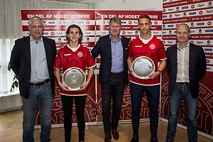 Flemming Berg, talentchef DBU (Danmark), Victor Jensen (Danmark), �ge Hareide, A-landstr�ner (Danmark), Marcus Ingvartsen (Danmark), Niels Frederiksen, landstr�ner U-21 (Danmark)