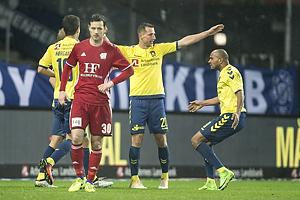 Kamil Wilczek, m�lscorer (Br�ndby IF), Christian N�rgaard (Br�ndby IF), Rodolph William Austin (Br�ndby IF), Hallgrimur Jonasson (Lyngby BK)