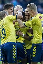 Lebogang Phiri, m�lscorer (Br�ndby IF), Christian N�rgaard (Br�ndby IF), Hany Mukhtar (Br�ndby IF), Hj�rtur Hermannsson (Br�ndby IF)