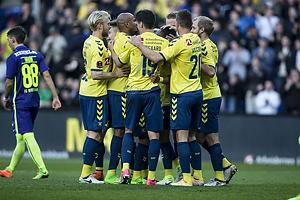 Johan Larsson (Br�ndby IF), Christian N�rgaard (Br�ndby IF), Kamil Wilczek (Br�ndby IF), Teemu Pukki (Br�ndby IF)