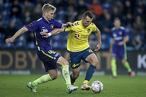 Kamil Wilczek (Br�ndby IF), Rasmus Nissen Kristensen (FC Midtjylland)