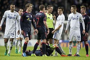 Anders Poulsen, dommer, Stephan Petersen (Agf), William Kvist (FC K�benhavn), Jan Gregus (FC K�benhavn), Youssef Toutouh (FC K�benhavn)