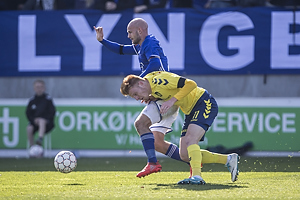 Uidentificeret person (Lyngby BK), Zsolt Kalm�r (Br�ndby IF)