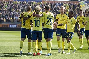 Teemu Pukki, m�lscorer (Br�ndby IF), Hany Mukhtar (Br�ndby IF), Jan Kliment (Br�ndby IF), Johan Larsson (Br�ndby IF), Lebogang Phiri (Br�ndby IF)