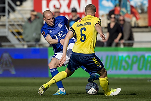 Uidentificeret person (Lyngby BK), Hj�rtur Hermannsson (Br�ndby IF)