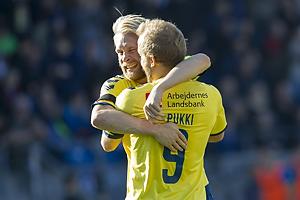 Teemu Pukki, m�lscorer (Br�ndby IF), Johan Larsson (Br�ndby IF)