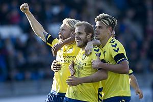 Teemu Pukki, m�lscorer (Br�ndby IF), Johan Larsson (Br�ndby IF), Jan Kliment (Br�ndby IF)