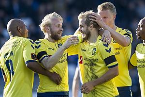 Teemu Pukki, m�lscorer (Br�ndby IF), Johan Larsson (Br�ndby IF), Rodolph William Austin (Br�ndby IF), Hj�rtur Hermannsson (Br�ndby IF)