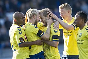 Teemu Pukki, m�lscorer (Br�ndby IF), Johan Larsson (Br�ndby IF), Rodolph William Austin (Br�ndby IF), Hj�rtur Hermannsson (Br�ndby IF), Lebogang Phiri (Br�ndby IF)