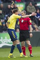 Benedikt R�cker (Br�ndby IF), Michael Tykgaard, dommer