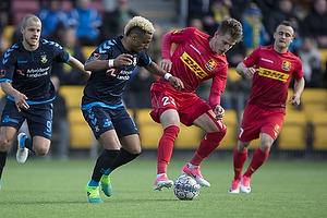 Hany Mukhtar (Br�ndby IF), Mathias Jensen (FC Nordsj�lland)
