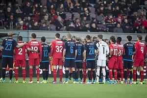 Paulus Arajuuri (Br�ndby IF), Karlo Bartolec (FC Nordsj�lland), Marcus Ingvartsen (FC Nordsj�lland), Frederik Holst (Br�ndby IF), Viktor Tranberg (FC Nordsj�lland), Hj�rtur Hermannsson (Br�ndby IF), Teemu Pukki (Br�ndby IF), Kamil Wilczek (Br�ndby IF), Frederik R�nnow (Br�ndby IF), Emiliano Marcondes (FC Nordsj�lland), Godsway Donyoh (FC Nordsj�lland), Christian N�rgaard (Br�ndby IF), Andreas Maxs� (FC Nordsj�lland)