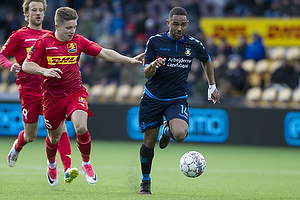 Kevin Mensah (Br�ndby IF), Mads Mini Pedersen (FC Nordsj�lland)