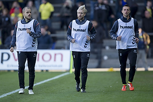 Teemu Pukki (Br�ndby IF), Johan Larsson (Br�ndby IF), Kamil Wilczek (Br�ndby IF)