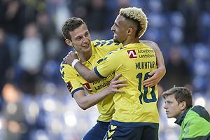 Gustaf Nilsson, m�lscorer (Br�ndby IF), Hany Mukhtar (Br�ndby IF)