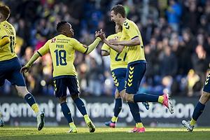 Lebogang Phiri (Br�ndby IF), Gustaf Nilsson, m�lscorer (Br�ndby IF)