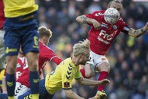 Johan Larsson (Br�ndby IF), Pierre Kanstrup (S�nderjyskE)